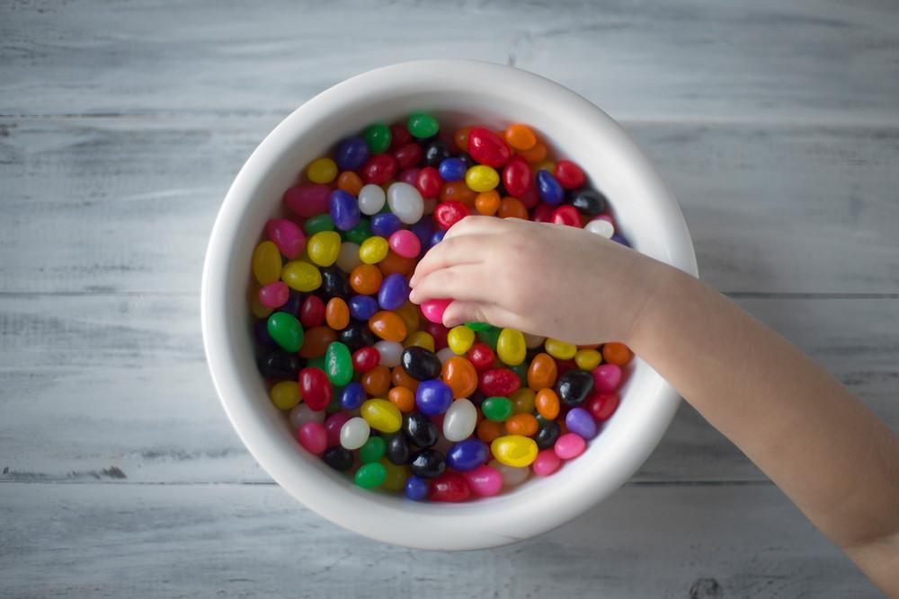 Bowl of jellybeans