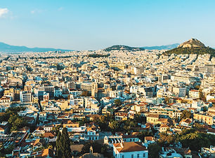 Overlooking Athens from high up on a hill. Plan My Trip to Athens