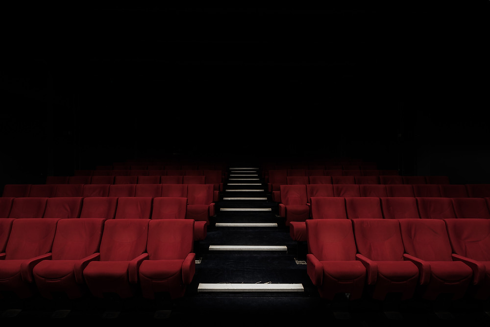 An empty theater symbolizing the end of a film production LLC.