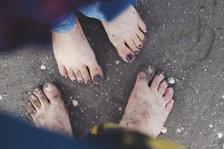 Sandy Feet by H. Dadkhah