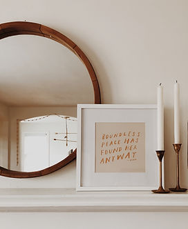 Mantel withh frame, mirror and candles