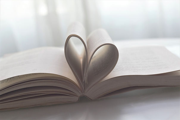 Book with a Heart in the Pages