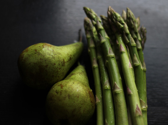 Pears and Asparagus