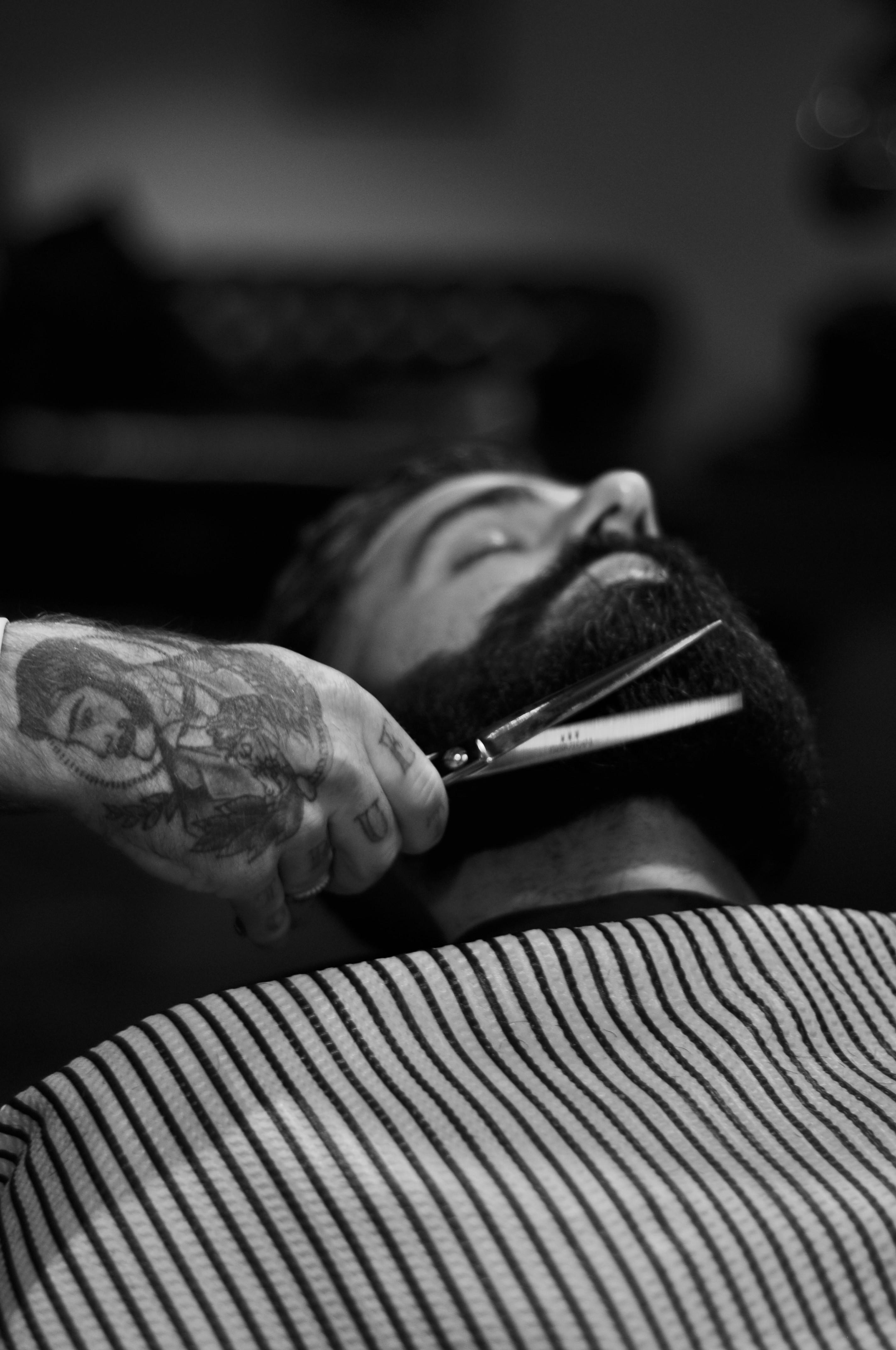 Taille ou rasage de la barbe