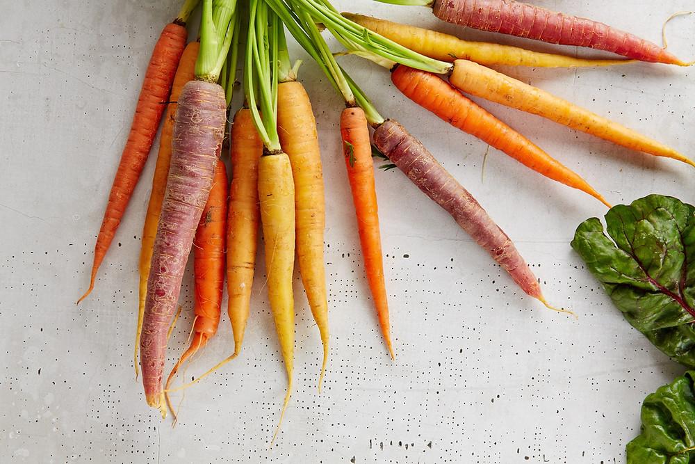 Heirloom carrots.