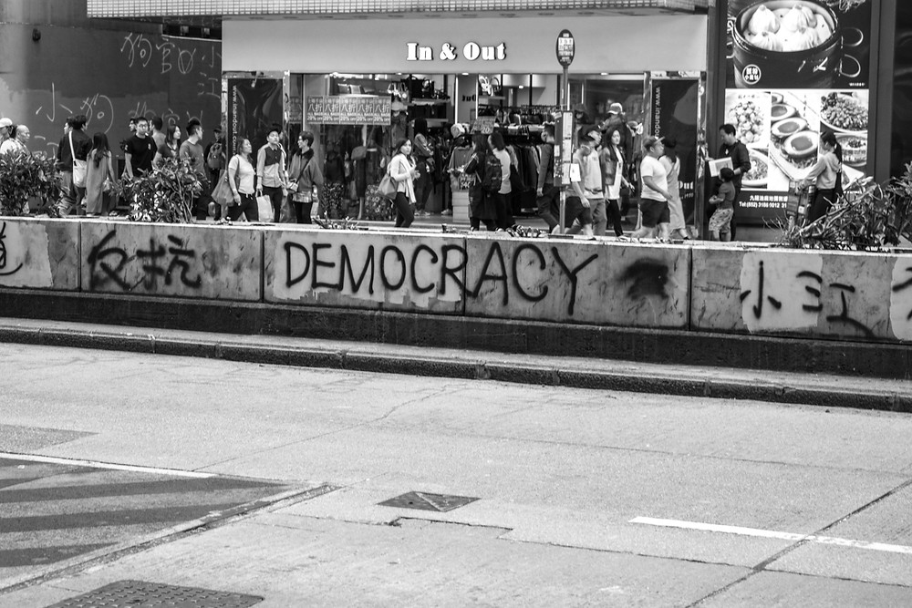 graffiti from the protest