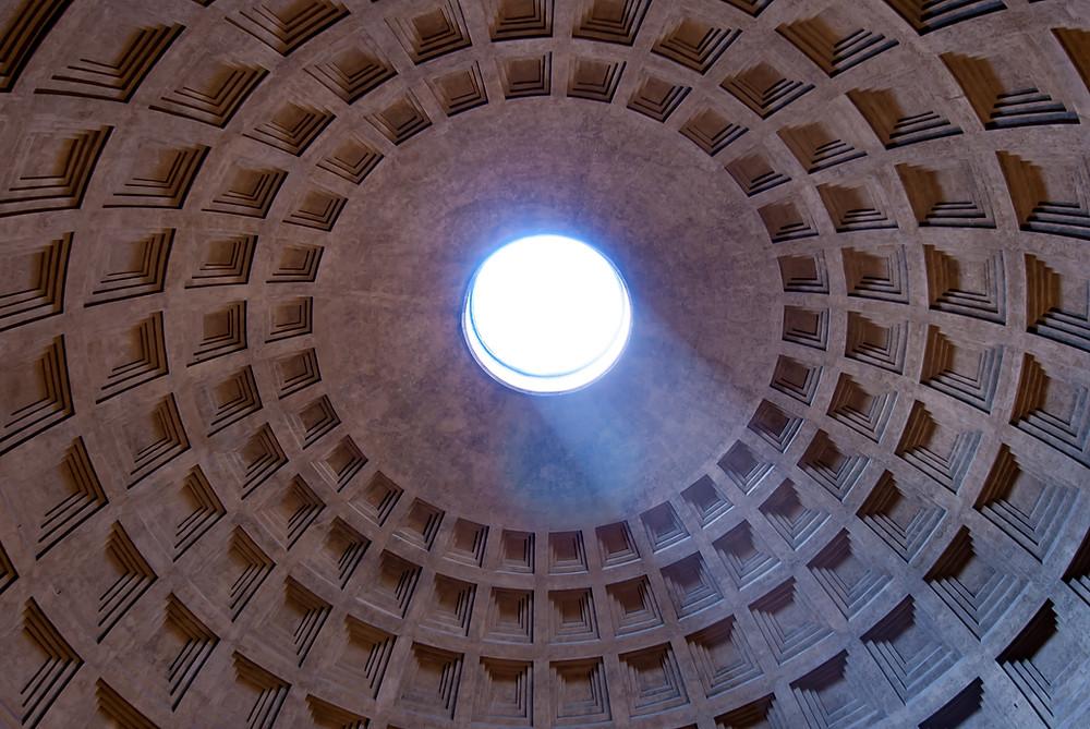 oculo do pantheon - abertura circular na cupula