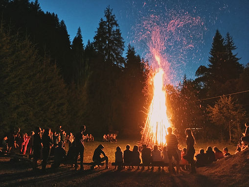 Bonfire with crowd. Image by Georgiana Avram