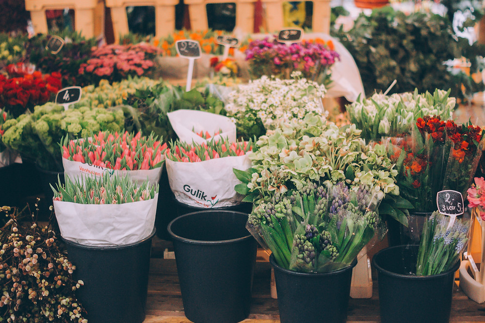 Flowers at a Farmers Market
