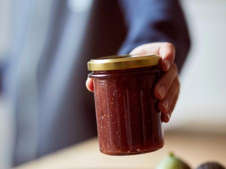 La recette de la confiture rhubarbe fraise de Grand-Père Alain