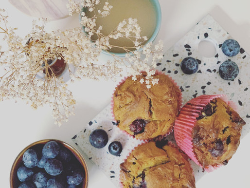 ☀️ Oat Flour Blueberry Muffins ☀️