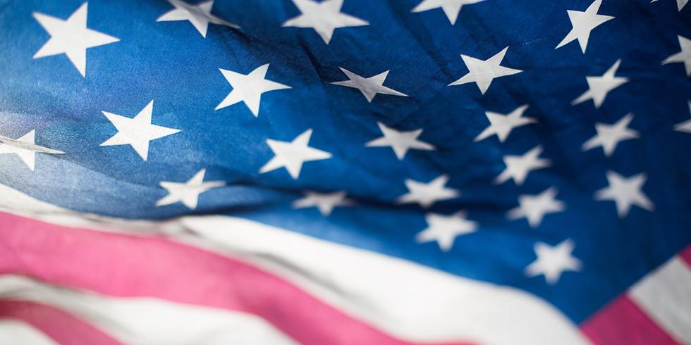 TRUMP FLAG WAVING