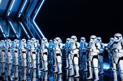 Image by Brian McGowan. Stormtroopers in the Rise of the Resistance attraction at Disney theme park