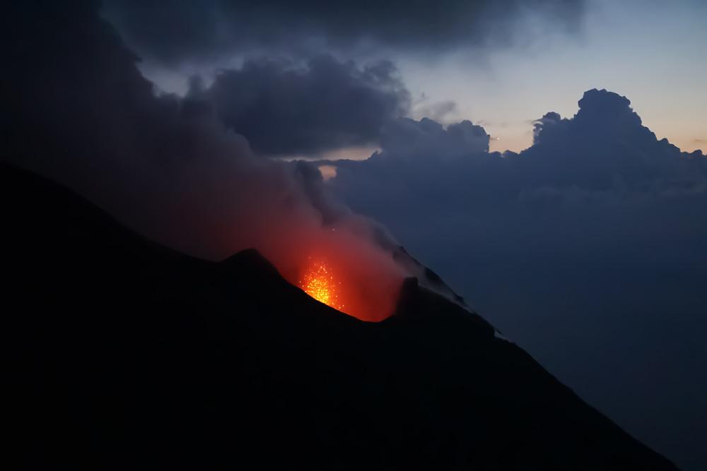 Stromboli vulcano, Aeolian islands, yacht charter Italy