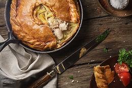 Chicken and mushroom puff pie M