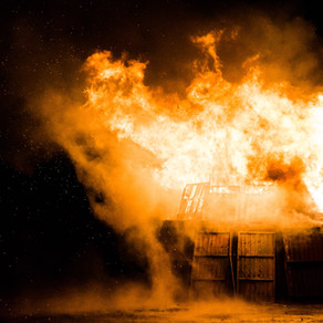 Barn on Fire by Erin McKay