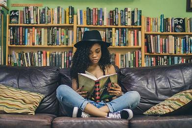 Woman Reading Best Self Help Book in Philadelphia