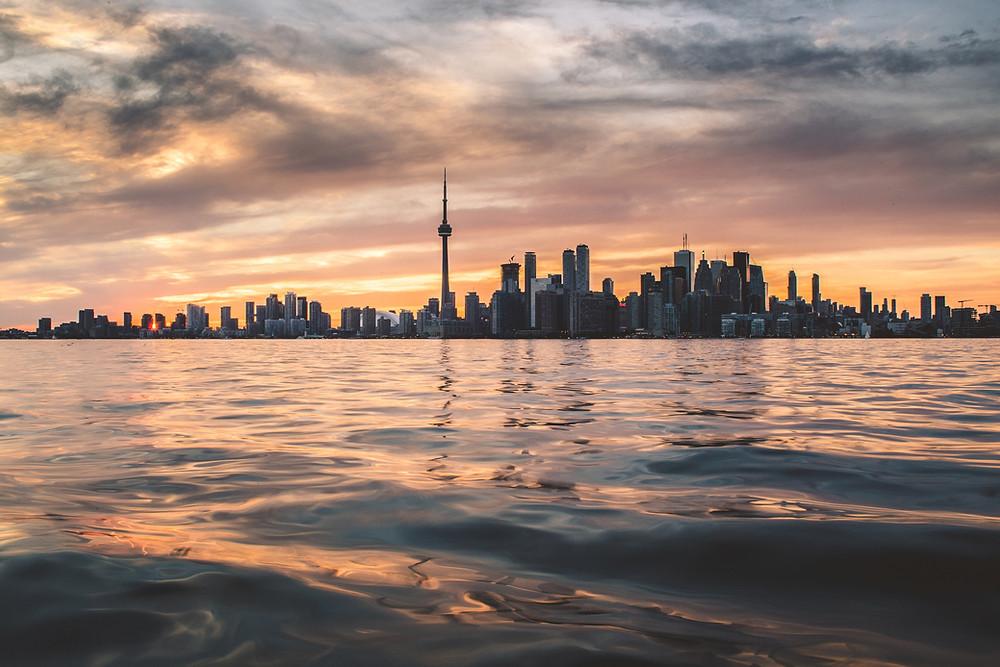Vista da cidade de Toronto, Canadá.