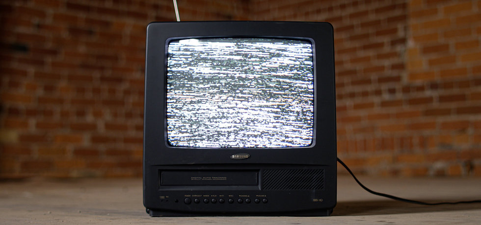 TV box with static on screen