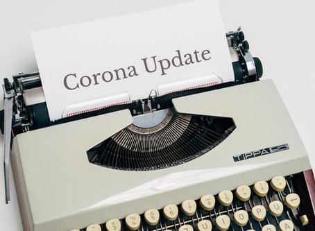 Corona-update: verlenging van tijdelijke sluiting