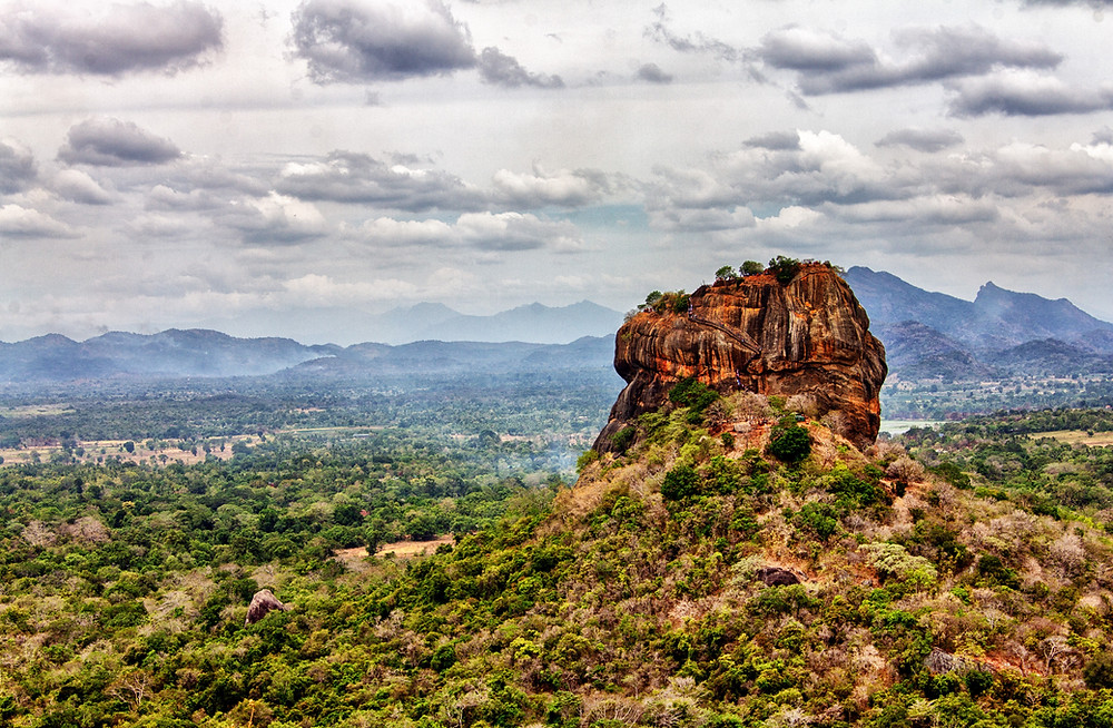 The sigiriya rock