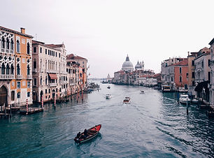 From atop one of the many bridge crossings, this is a stunning view of the Grand Canal in Venice, Italy. Plan my trip to Venice
