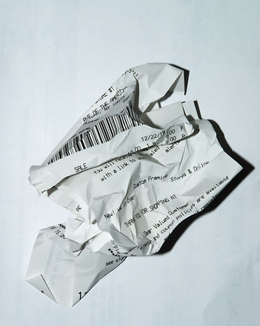 Crumpled Receipt