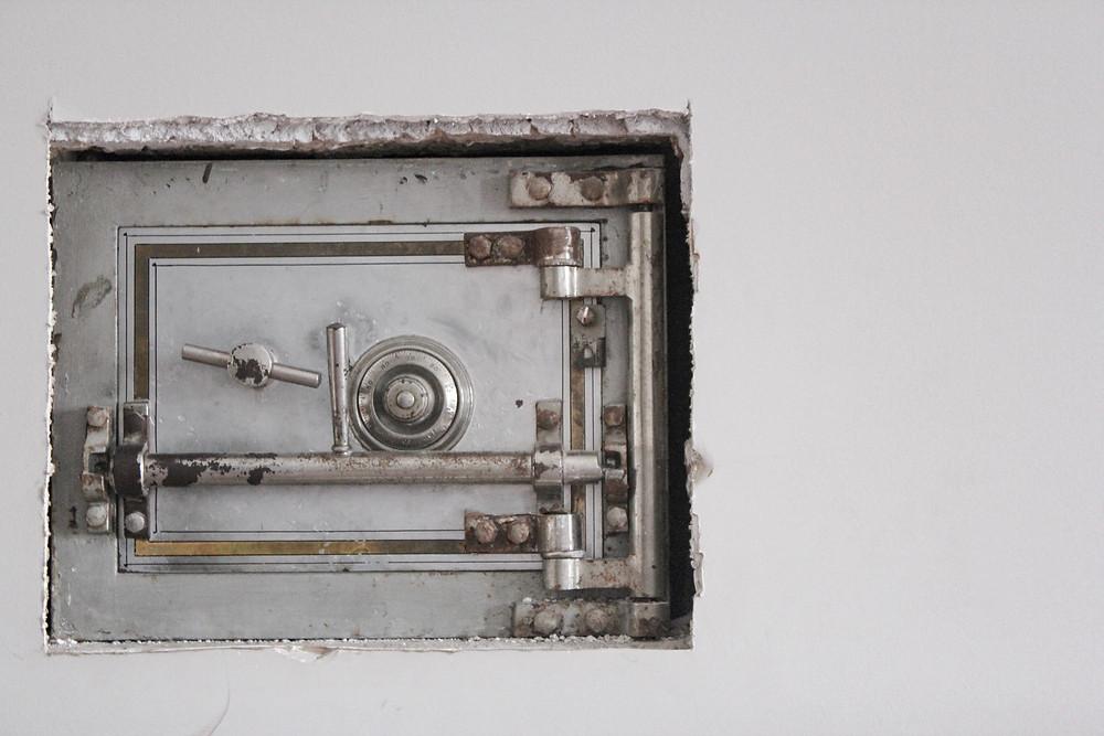 a bank safe