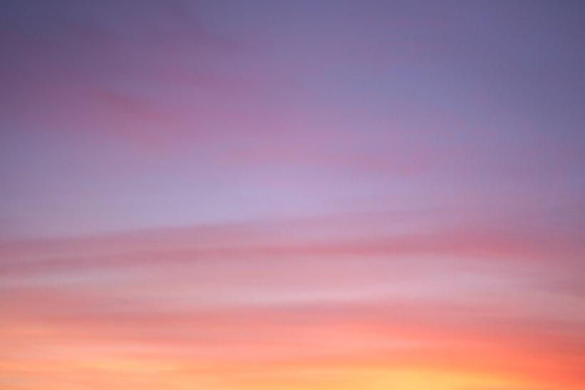 Hazy sky at dusk
