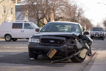 Destroyed SUV