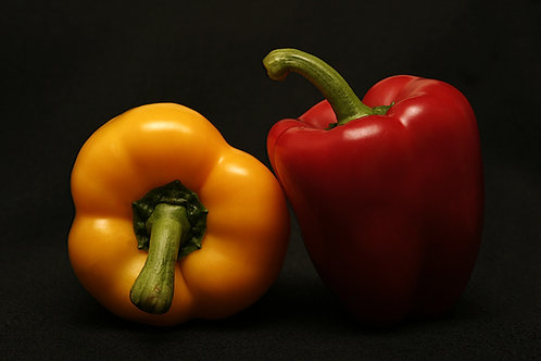 Red and Yellow Capsicum (approx. 400gm - 2pcs)