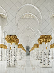 White Room with white and gold columbs with marble floors Image by Zosia Korcz