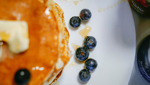 Fluffy Healthy Blueberry Oatmeal Pancake Recipe