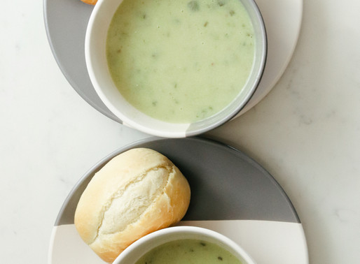 Courgette, Potato and Cheese Soup