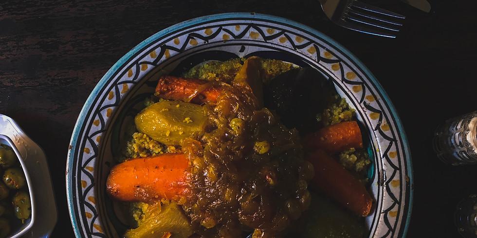 Cous cous  alla marocchina con carne speziata