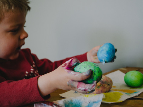 What do children learn when playing with playdough?
