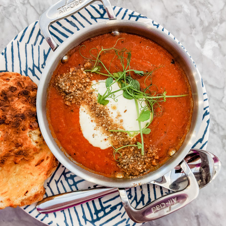 Simple Red Lentil & Tomato Soup