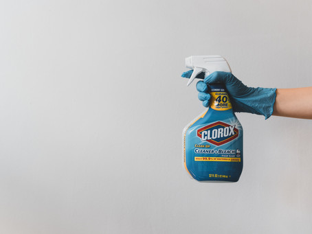 Steps to properly handle disinfectants