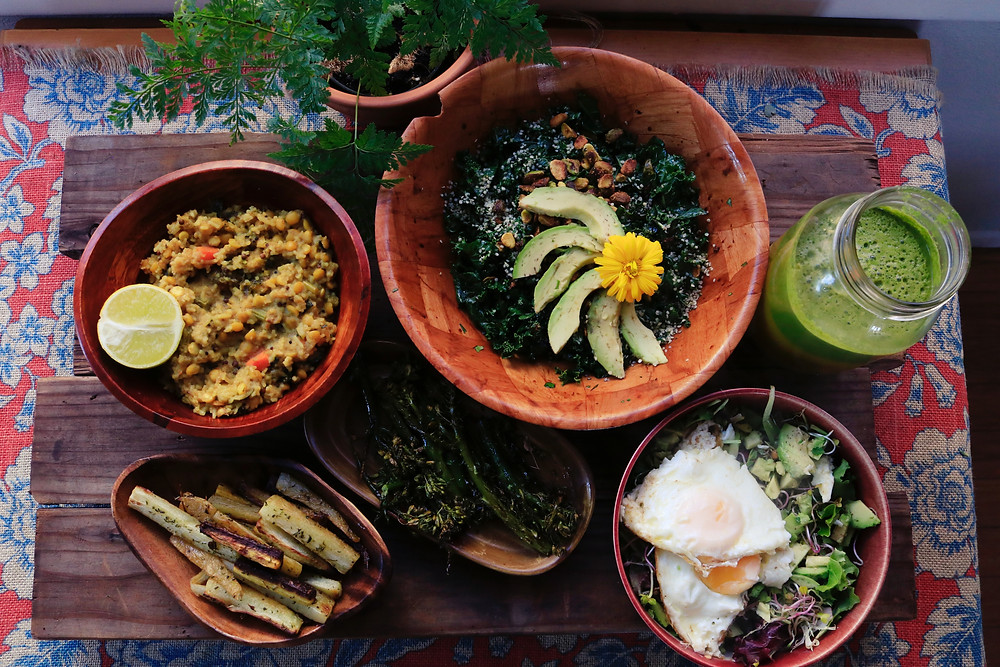 3 Vegan Lifestyle Tips for Beginners A vegan meal spread