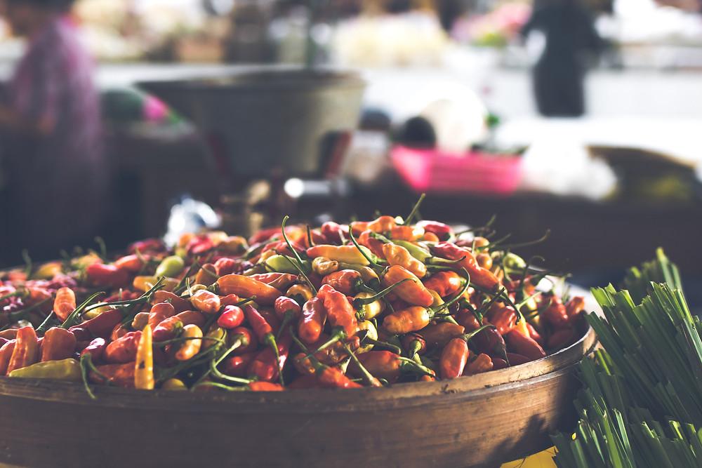 fresh chili for sale