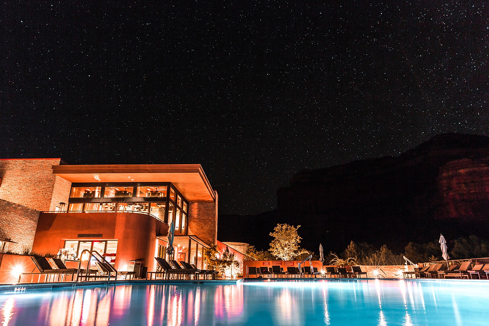 Star at night in Arizona