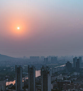 Smog over city