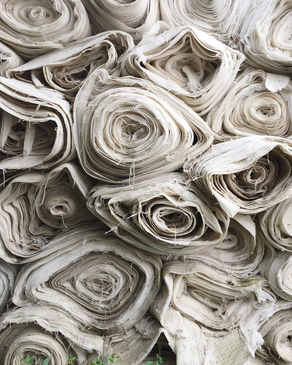 fabric rolls white