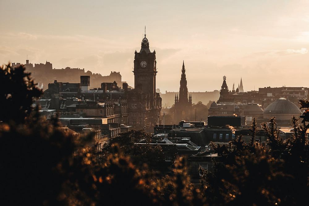 Edinburgh city looking magical in the mist