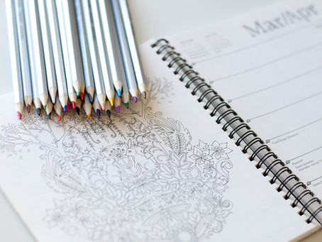 Colouring sheets to help relax while at home