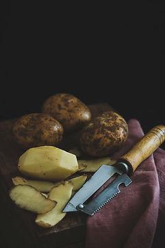 Potatoes, raw, skin