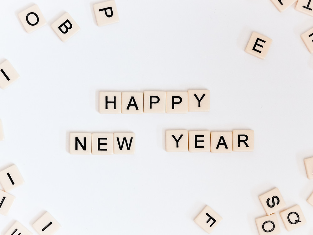 New Year tiles