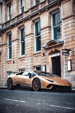 Luxury car in Mayfair London