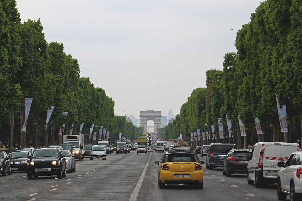 the Champs Élysées