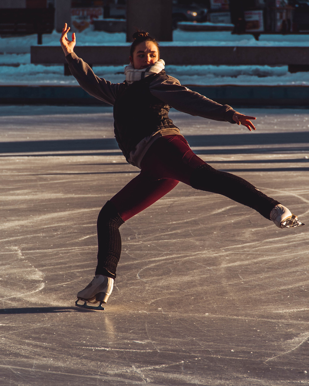 Lake County holiday events including ice skating in Eustis